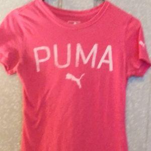 Pretty in Pink Puma Crewneck Tee Size Sm.
